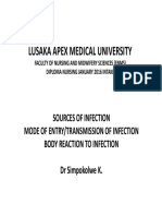 Source,Entry and Body Reaction to Infection 5