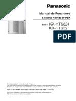 Panasonic KX HTS32 KX HTS824 Sistema Hibrido IP PBX Manual de Funciones v1.5