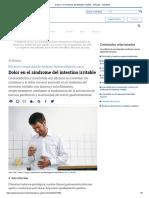 Dolor en el síndrome del intestino irritable - Artículos - IntraMed.pdf