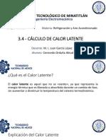 3.4 Cálculo de Calor Latente