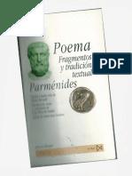 Parmenides Poema Fragmentos y Tradicion Textual