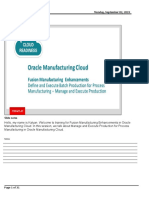 Process Manufacturing Manage and Execute Production