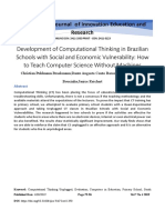 Development of Computational Thinking in Brazilian Schools with Social and Economic Vulnerability