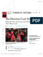 Why the New Autocrats Are Weaker Than They Look