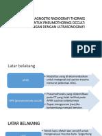 Akurasi Diagnostik Radiografi Thoraks Oblique Untuk Pneumothoraks Occult