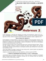 Hebreus 2 1-18 - o Grande Triunfo Sobre a Morte e Sobre o Diabo. _ Jamais Desista!