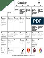 Calendar September 2019 PDF