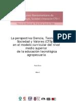 La perspectiva Ciencia, Tecnología, Sociedad y Valores (CTSyV)