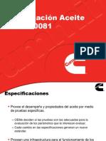 Especificación de Aceites