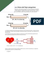 Hemodinámica o Física Del Flujo Sanguíneo