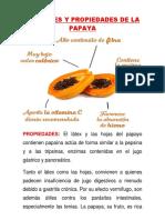 Bondades y Propiedades de La Papaya