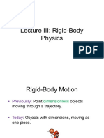 Lecture 3 - Rigid-Body Physics