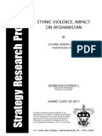 ETHNIC VIOLENCE, IMPACT ON AFGHANISTAN