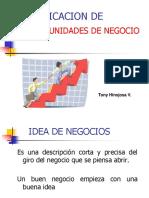 Identificacion de Idea de Negocios