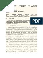 245706573 Modelo Solicitud Prescripcion de Tributos Municipales