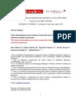 Bioimpedancia Como Método de Valoración de La Composicion Corporal Enbailarinas de Ballet y Gimnastas