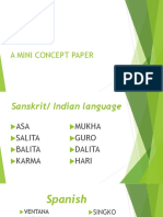 A Mini Concept Paper