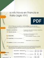 Ars Nova en Francia e Italia