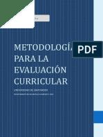 Metodologia para la evaluacion curricular