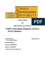 Free Body Diagram of Four Force System