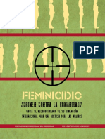 Feminicidio FEMINICIDIO ¿Crimen Contra La Humanidad?