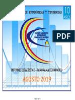 Informe del Centro de Almaceneros de Córdoba - Agosto