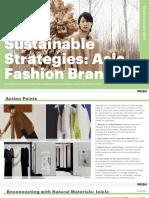 Estrategias Sostenibles Marcas de Moda de Asia (en Inglés)