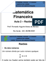 1º Administração v - Matemática Financeira - Aula 02 - Razões