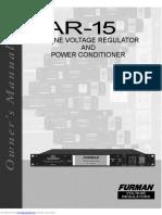 Furman AR-15 Voltage Regulator Manual