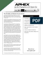 Aphex 207d Aessheet