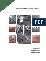 Manual de Mantenimiento de Equipos Eléctricos y Herramientas Del Taller El Super Genio c