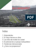 El futuro del OLAYA HERRERA ¿Un Parque o un Aeropuerto para MEDELLÍN?