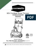 GW 20in 80V Brushless Snow Thrower E Manual Final