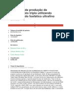 Processo de produção de superfosfato triplo utilizando concentrado fosfático ultrafino úmido.docx