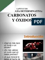 Cap 13 Carbonatos y Oxidos