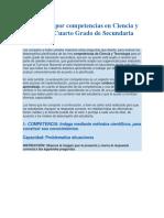 Evaluación Por Competencias en Ciencia y Tecnología Cuarto Grado de Secundaria 2019