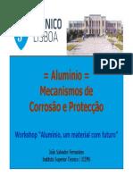 Alumínio - mecanismos de proteção da corrosão