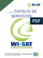 Portafolio de Servicios Wisat 20161