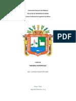 Curso de Mineria Superficial - Universidad Nacional Del Altiplano - 2014