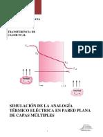 Analogía Térmico Eléctrica en Pared Plana de Capas Múltiples
