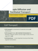 Simple Diffusion and Facilitated Transport