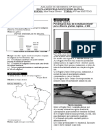 Prova de Geografia 4º Bimestre Fausto Neres Santana
