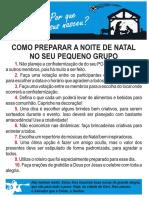 COMO PREPARAR A NOITE DE NATAL NO SEU PEQUENO GRUPO
