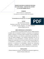 Ledesma- Ponencia Xxix Congreso de Derecho Procesal - Las Sentencias de Lectura Fácil