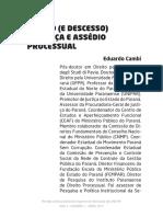 Acesso (e Descesso) à Justiça e Assédio Processual - Eduardo Cambi