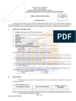 CHED Application Form.doc