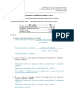 2019_1_Exercício Sobre Análise Custo-Volume-Lucro