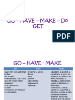 Go – Have – Make -Get