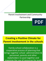 Parent Involvement & Community Partnership