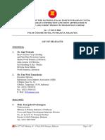 Annex 1 List of Delegates(22nd Meeting)